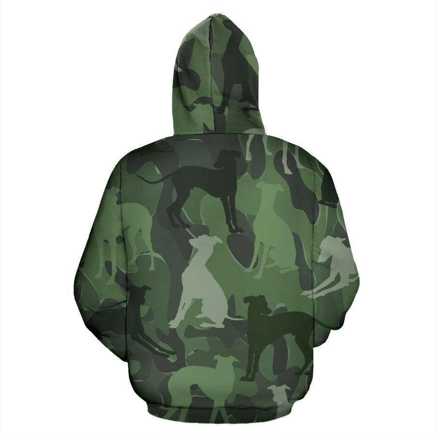 Greyhound Light Green All Over Print Camouflage Hoodie - JillnJacks Exclusive - Jill 'n Jacks