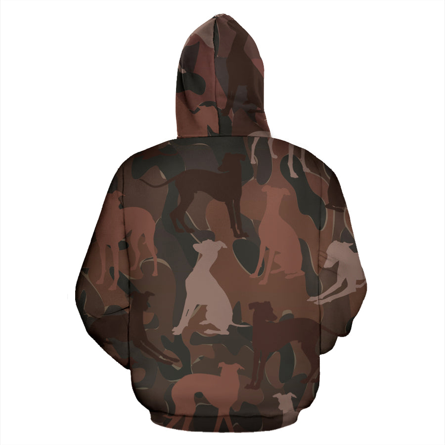 Greyhound Maroon All Over Print Camouflage Hoodie - JillnJacks Exclusive - Jill 'n Jacks