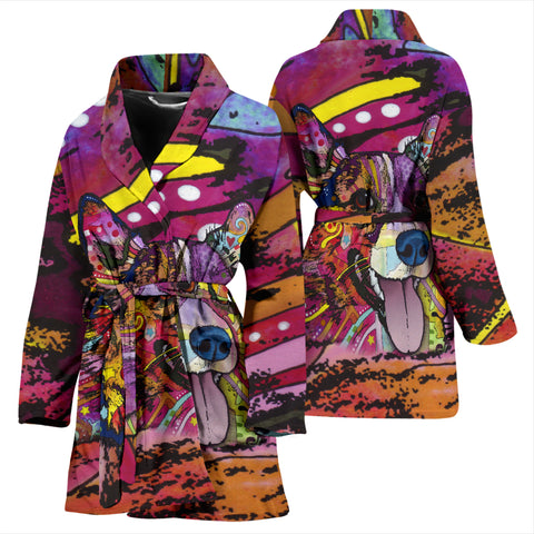 Corgi Design Women's Bath Robe - Dean Russo Art