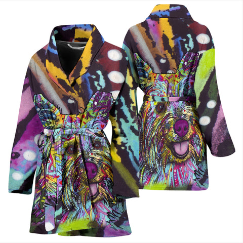 Yorkie Design Women's Bath Robe - Dean Russo Art