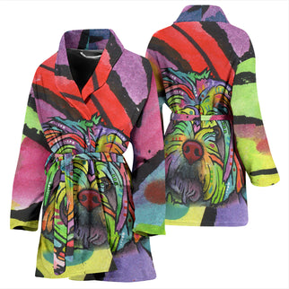 Havanese Design Women's Bath Robe - Dean Russo Art - Jill 'n Jacks