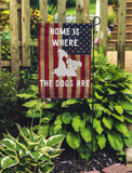 Home Is Where The Dog Is Garden Flags - Jill 'n Jacks