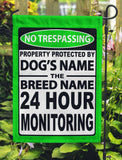 No Trespassing Personalized Garden Flags - Jill 'n Jacks