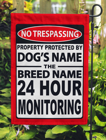 No Trespassing Personalized Garden Flags