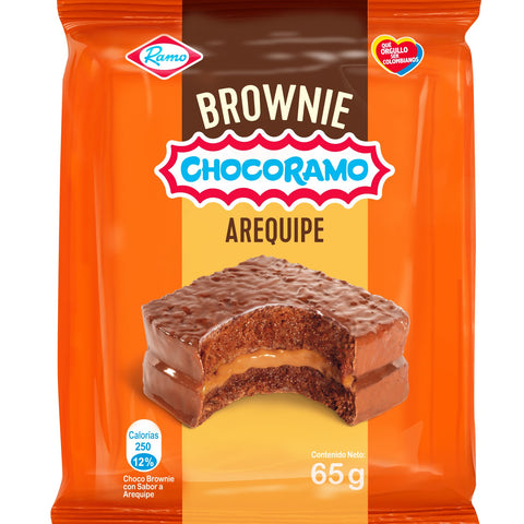 Brownie filled with Arequipe (Dulce de Leche) -3 Unds x 65g