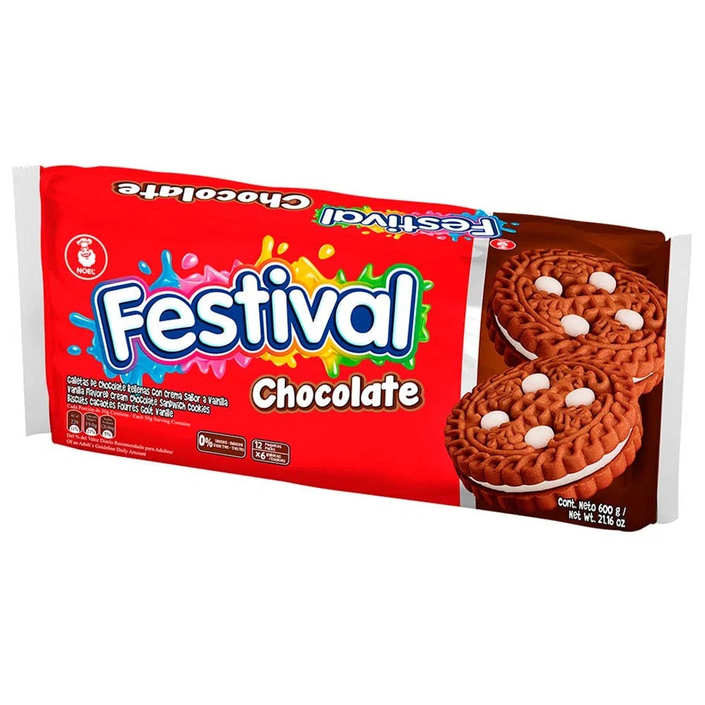 Festival Chocolate Cookie Noel Pack of 12 (600g)