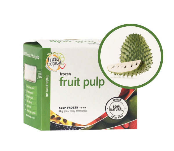 Soursop Fruit pulp - 1Kg Box (10 x 100g Sachets)
