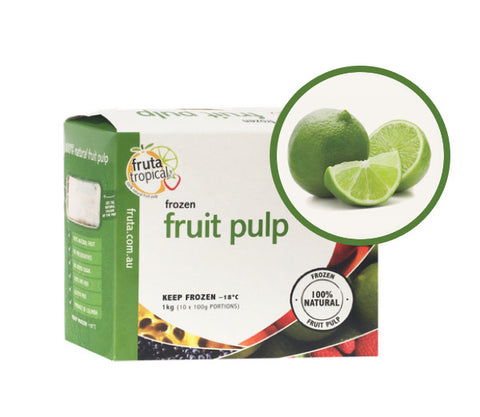 Lime Fruit pulp - 1Kg Box (10 x 100g Sachets)