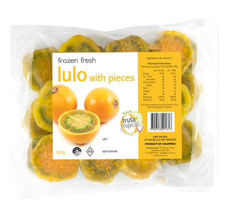 NEW! Frozen Lulo Pieces - 500g