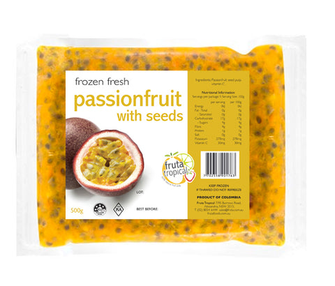 NEW! Passionfruit Puree With Seeds - 500g