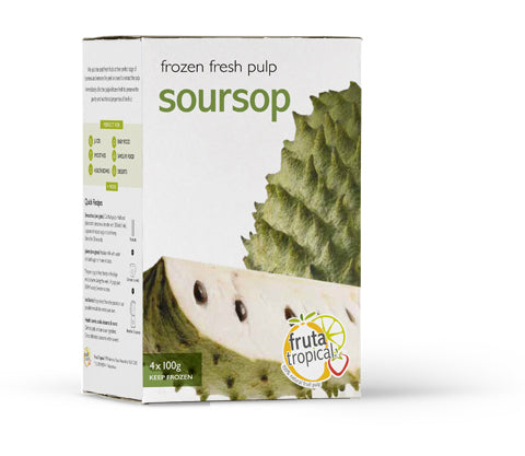 Soursop Fruit Pulp - Retail Box (4 x 100g Sachets)