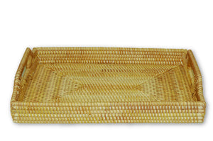 Handmade Bamboo Rattan Serving Tray Front