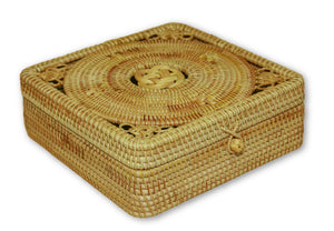 Handmade Bamboo Rattan Large Storage Box Container Knot