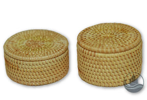 Handmade Bamboo Rattan Mini Storage Box Container Small Large