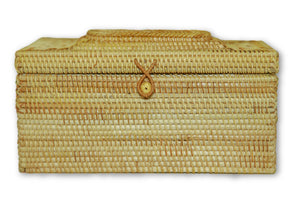 Handmade Bamboo Rattan Tissue Box Holder Cover Large Front