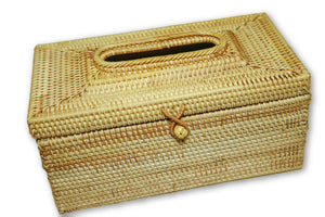 Handmade Bamboo Rattan Tissue Box Holder Cover Large