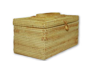 Handmade Bamboo Rattan Tissue Box Holder Cover Large Angle