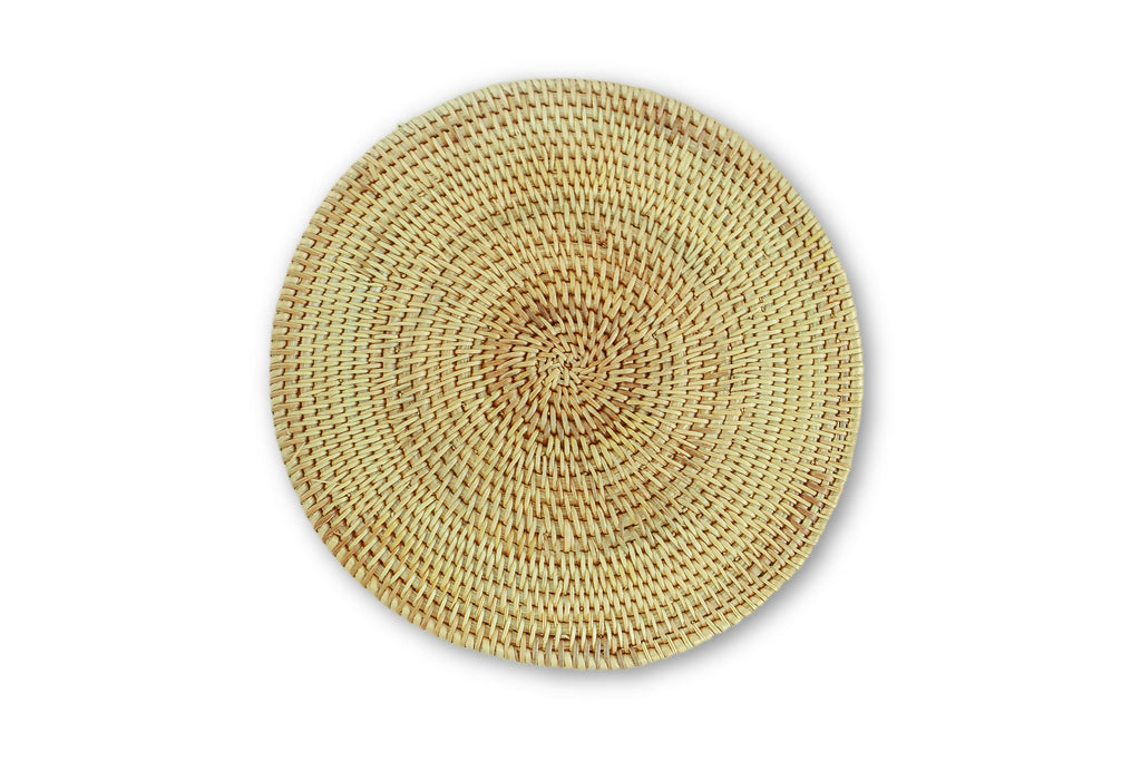 Bamboo & Rattan Trivet (Hot Pan Holder/Coaster)