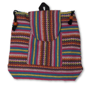 Colorful Cloth Backpack with Drawstrings
