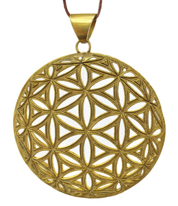 Flower of Life Sphere Relief Pendant