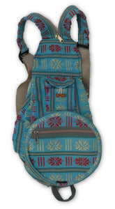 Small Folding Backpack with Woven Pattern Fabric