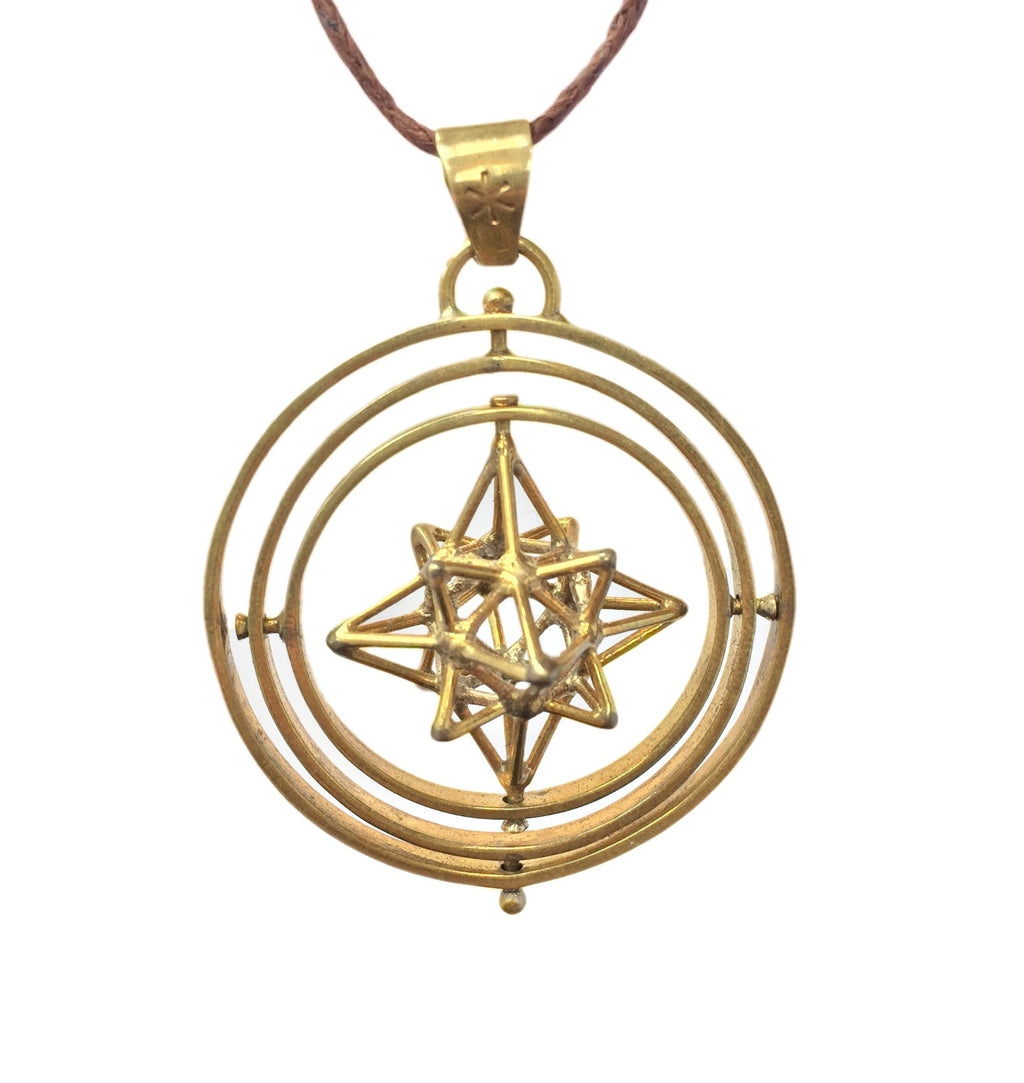Heart Star in 3 Circles Pendant
