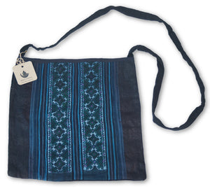 Hmong Hemp Stitched Shoulder Tote Bag