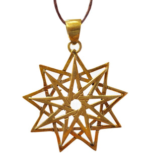 Nine Point Star Pendant