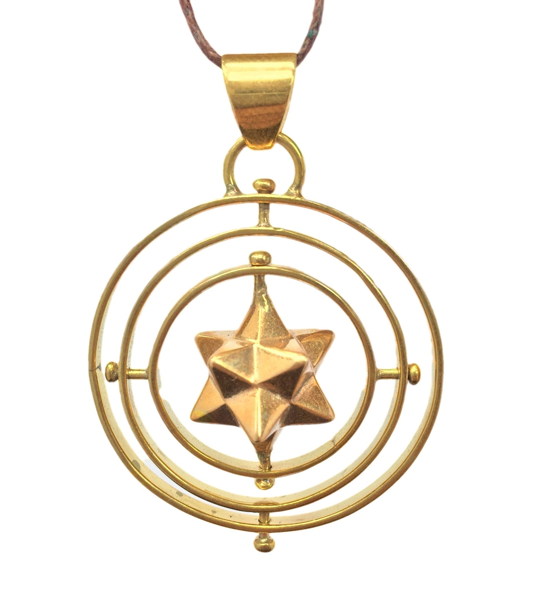 Solar Star Solid in 3 Circles Pendant