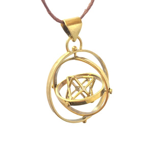 Star Tetrahedron in 3 Circles Pendant