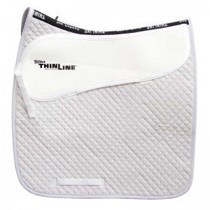 Thinline Cotton Quilted Dressage Square Saddle Pad White - Advanced Saddle Fit
