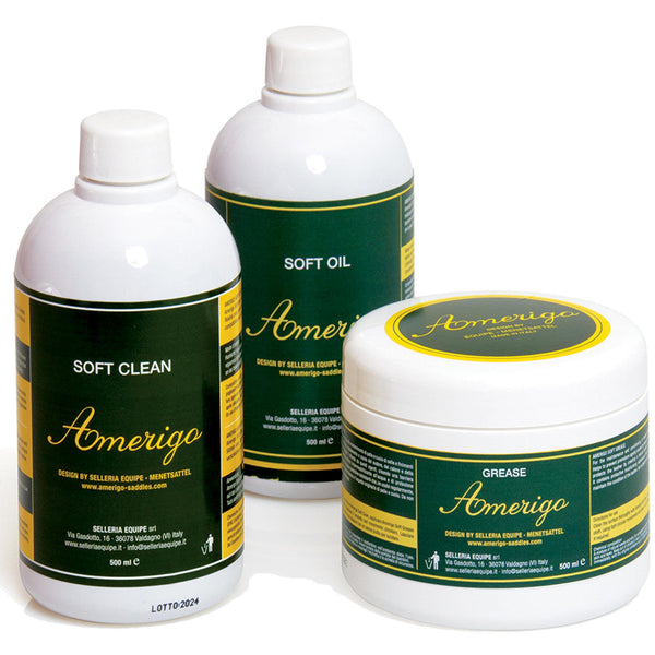 Advanced Saddle Fit - Amerigo Soft Clean, Amerigo Soft Oil, Amerigo Soft Balm