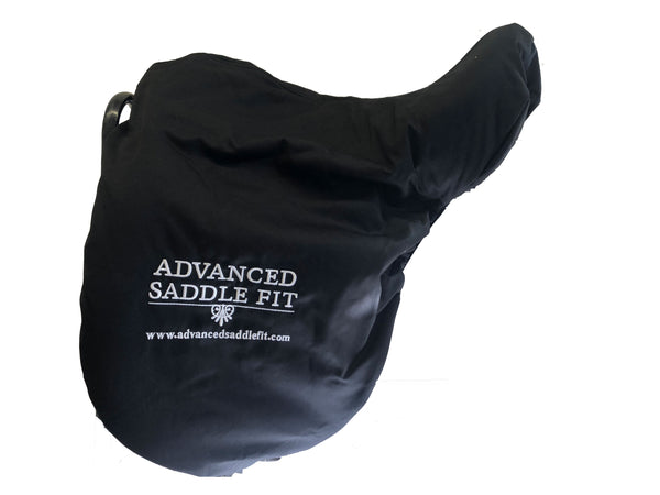 Advanced Saddle Fit | Fleece-lined Saddle Cover - Black - ASF Logo