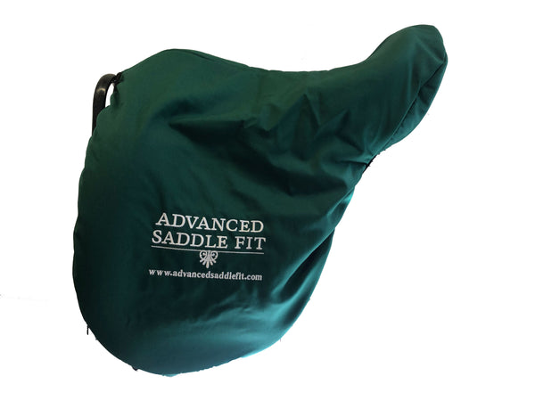 Advanced Saddle Fit | Fleece-lined Saddle Cover - Green - ASF Logo