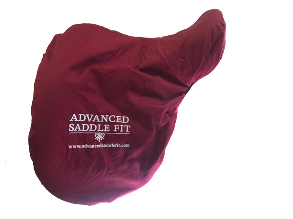 Advanced Saddle Fit | Fleece-lined Saddle Cover - Maroon - ASF Logo