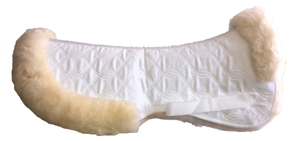 Advanced Saddle Fit | HorseDream Sheepskin Half Pad with Cantle Trim