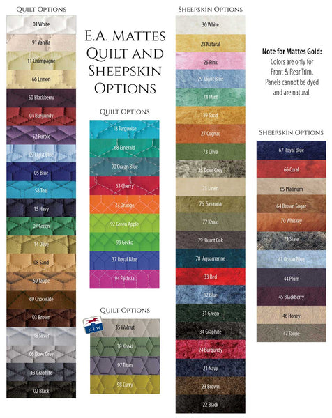 Advanced Saddle Fit | Mattes Quilt Colors