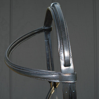 Thinline Padded Snaffle Bridle in Black - Advanced Saddle Fit