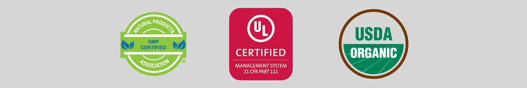 organic certification ul npa gmp certified
