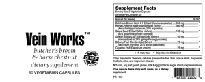 Vein Works Capsules Butcher's Broom & Horse Chestnut SFB