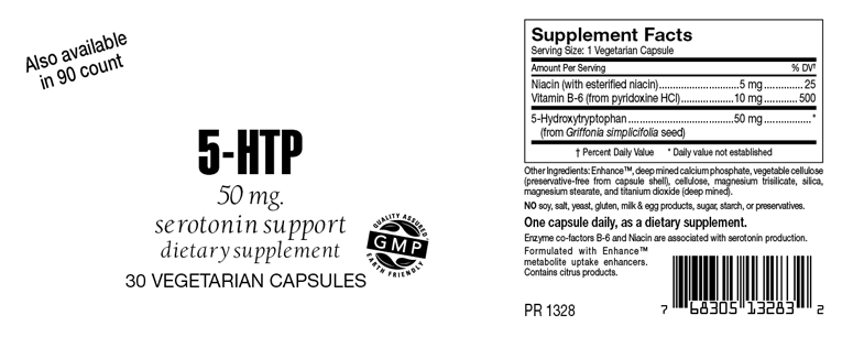 5-HTP 50mg Serotonin Support Capsules