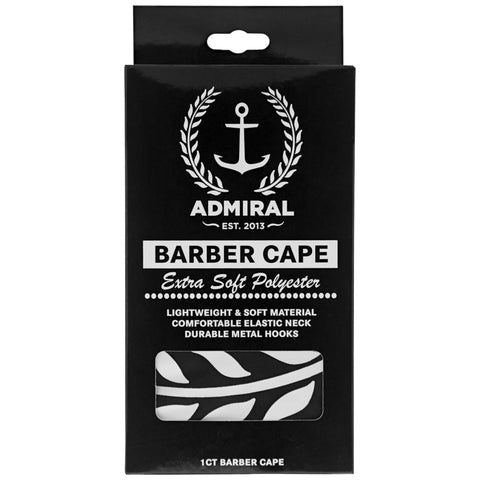 Admiral Pomade Barber Cape- Box Front
