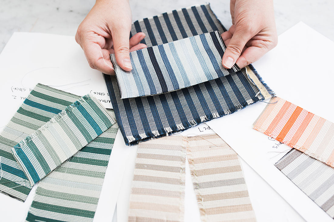 Ombré Stripe Color Samples | Rebecca Atwood