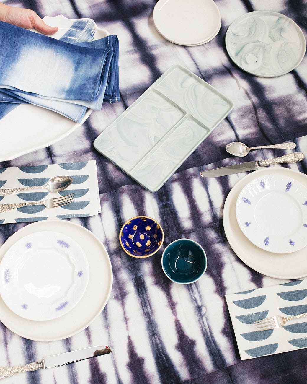 Rebecca Atwood | Setting The Table for the Holidays | Shades of Blue