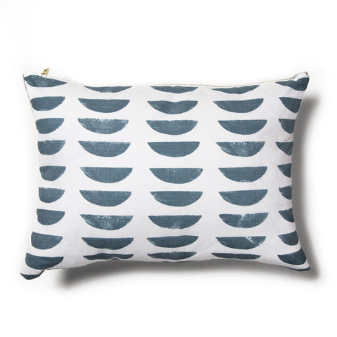 Hills Pillow Cover in Blue-slate