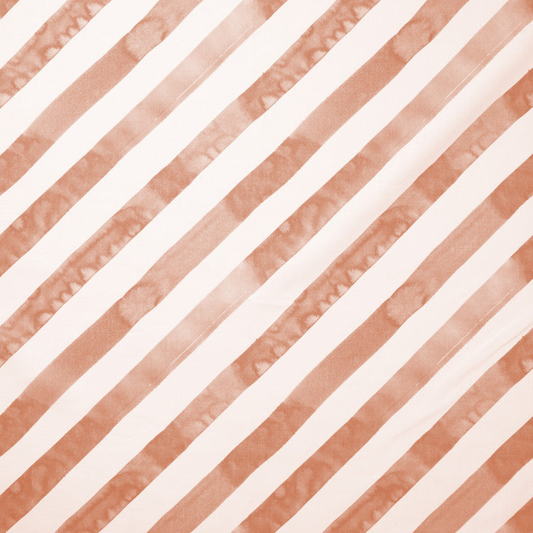 Diagonal Stripe Fabric in Blush