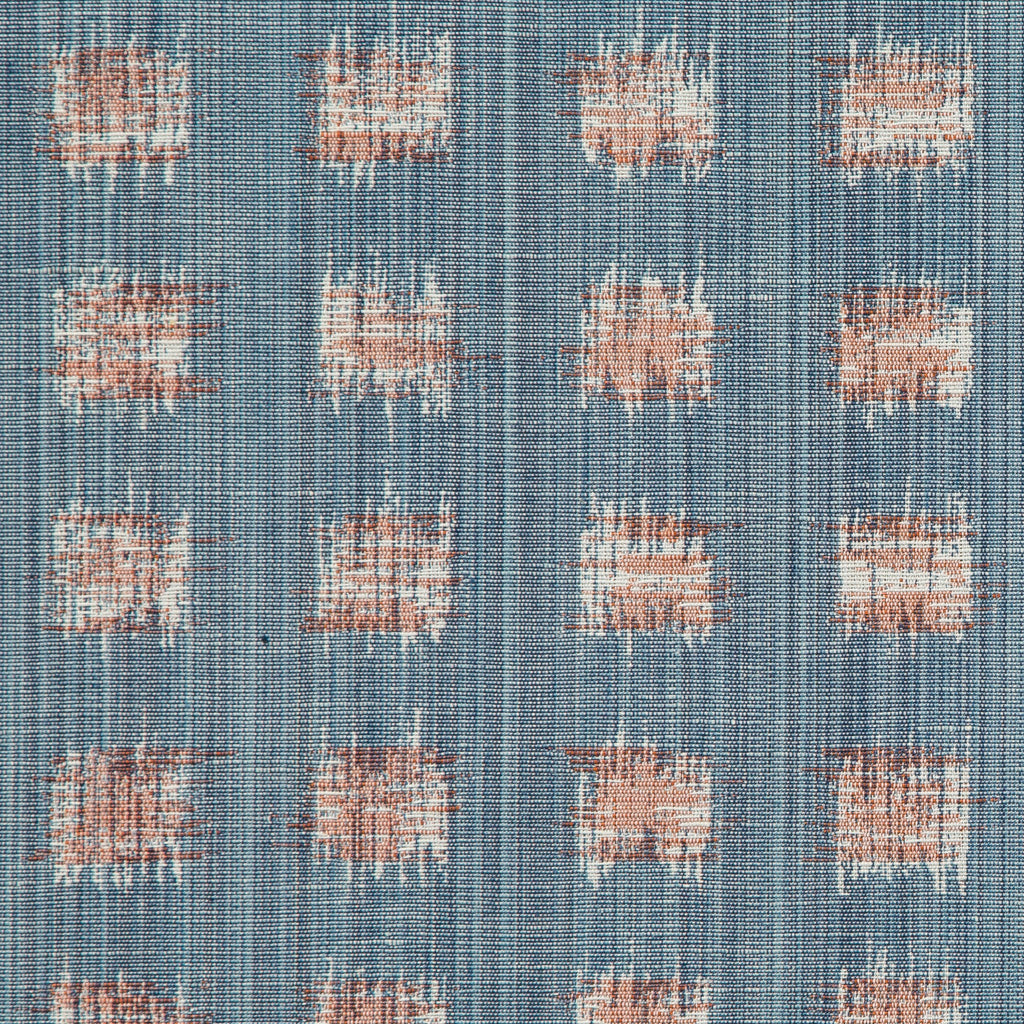 Gridded Ikat Pillow in Blue/Pink