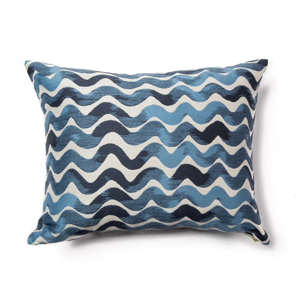 Tidal Wave Pillow Cover in Sea Blues