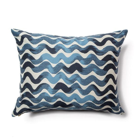 Tidal Wave Pillow in Sea Blues