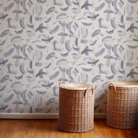 Dreamscape Wallpaper in Gray-Lilac